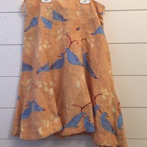 Meadow Rue Linen Skirt